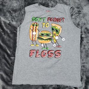 Boys The Floss Dance XL gray tank top sleeveless